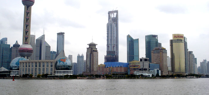 Shanghi skyline - feng shui for business