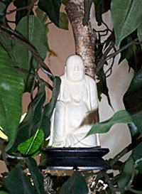 Space Clearing Buddha in plants